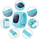Детские часы-телефон Q50 с GPS, SOS, просушка, будильник, шагомер, GPS+LBS+Wi-Fi. Голубые, фото 5