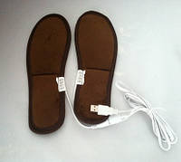 Стельки с подогревом Нагревательные элементы USB для ног теплые стельки термоэлементы 40-42