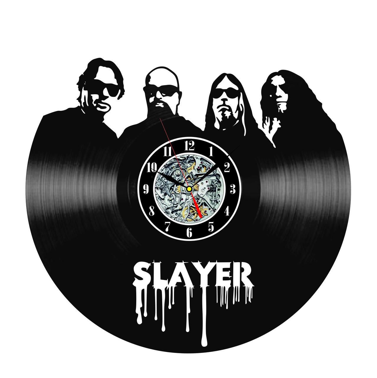 Настенные часы из виниловых пластинок LikeMark Slayer
