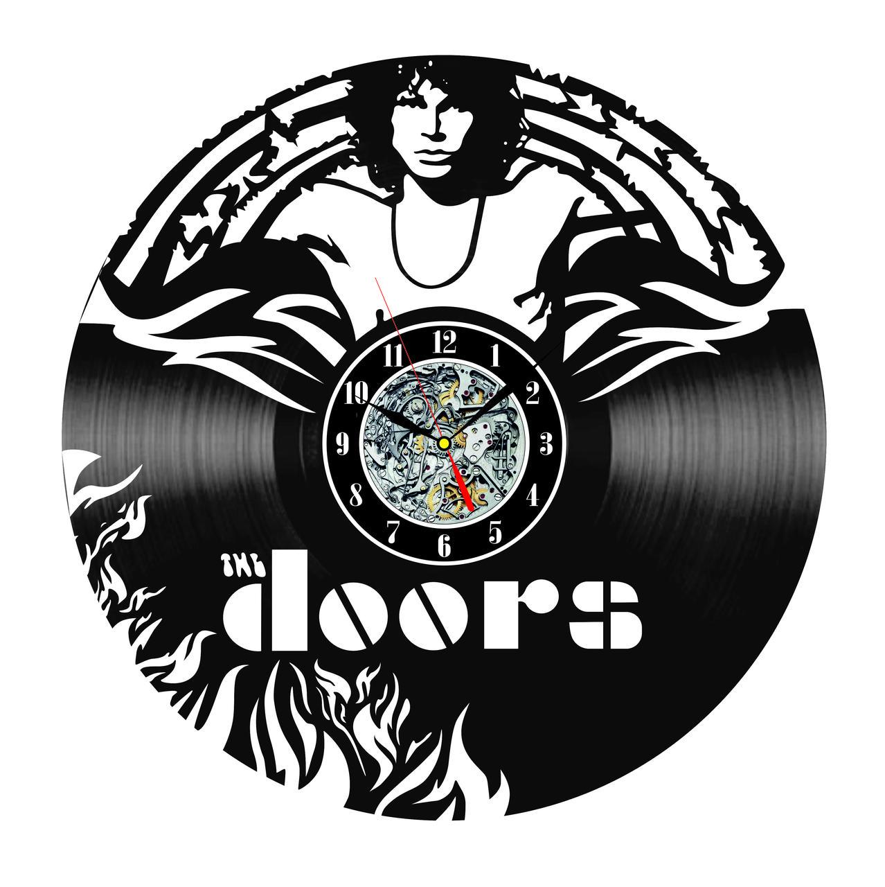 Настенные часы из виниловых пластинок LikeMark The Doors