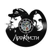 Настенные часы из виниловых пластинок LikeMark Агата Кристи