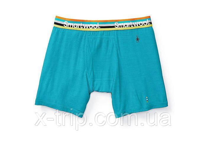 Мужские боксеры Smartwool Men's Micro 150 Stripe Boxer Brief Sea Blue (951), S
