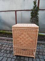 Бельевая корзинка плетеная из лозы