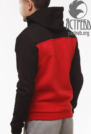 Кофта-Анорак (Hачес) Черно-Красный, фото 2