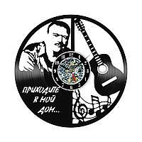Настенные часы из виниловых пластинок LikeMark Михаил Круг