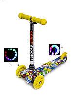 Мини МикроBest Scooterс рисунком Hot Wheels!