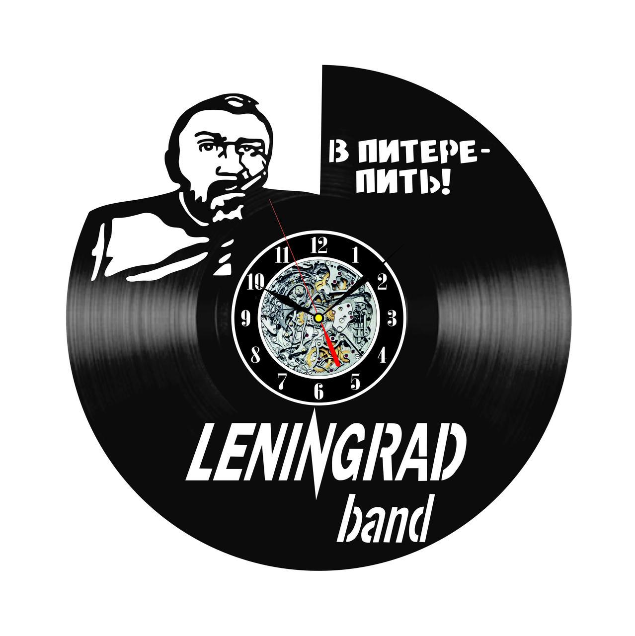 Настенные часы из виниловых пластинок LikeMark Ленинград #2