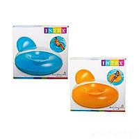 Надувное кресло для отдыха Intex 58889 ( голубое , оранжевое )