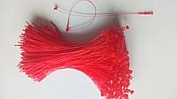 Ручные биркодержатели красные (хомуты) - 125 мм RED, фото 1