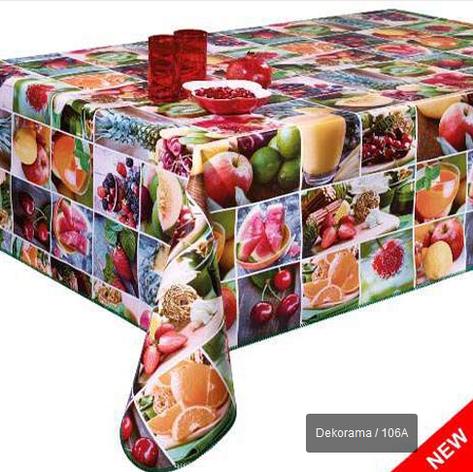 Клеёнка-скатерть на кухню с фруктами, фото 2