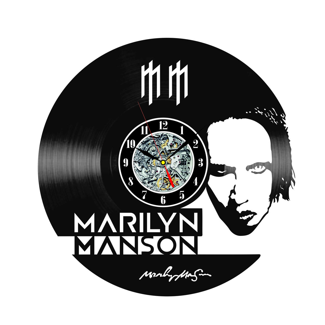 Настенные часы из виниловых пластинок LikeMark Marilyn Manson