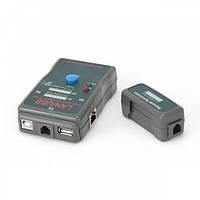 Тестер cablexpert nct-2 для тестирования экранированной, не экранированной витой пары и usb кабелей