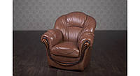 """Кожаное мягкое кресло, в классическом стиле """"Мальта"""", под заказ. Классическое кресло в коже от фабрики"""