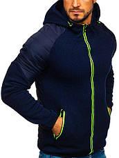 Демисезонная спортивная куртка(батник)мужская  с капюшоном Польша, фото 2