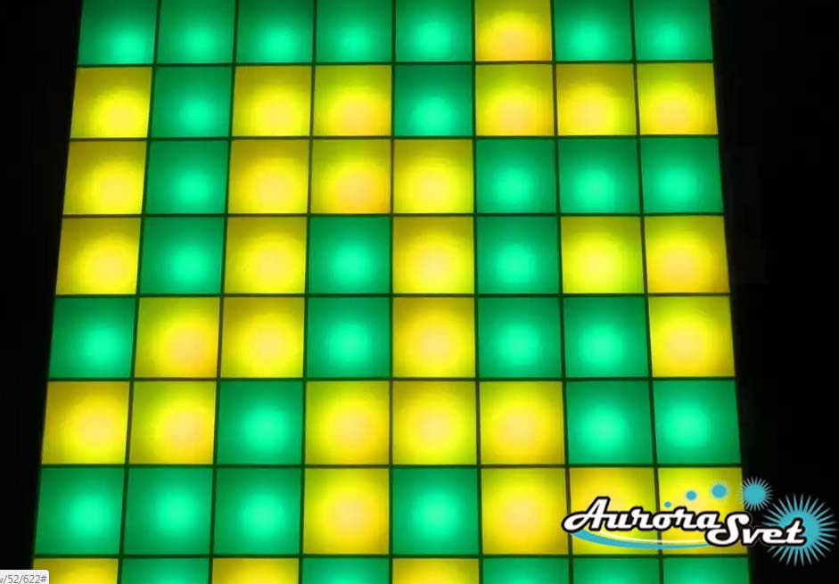 Светодиодная пиксельная панель напольная F-125-8*8-4-P