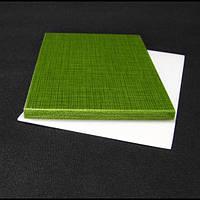 Накладки Мікарта для рукоятки ножа № 92190 Колір: зелений з тканинної текстурою 6,2х80х130 мм