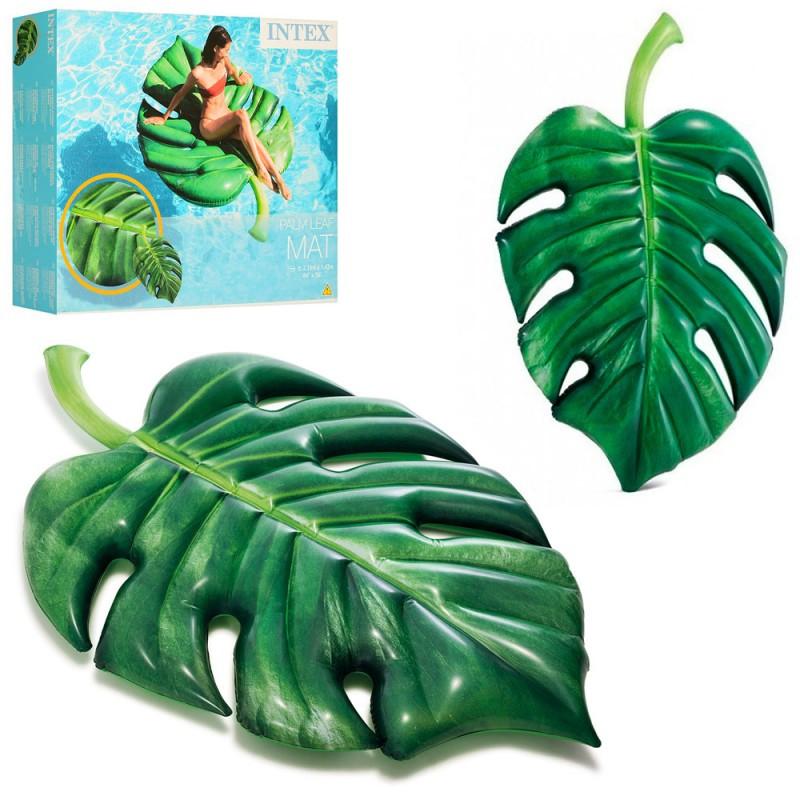 Надувной матрас Intex 58782 Пальмовый лист 213-142см