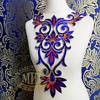 Термоклеевой декор, цвет Sapphire, размер 40х25см, 1 шт