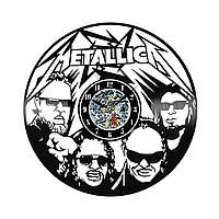 Настенные часы из виниловых пластинок LikeMark Metallika #1