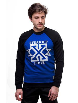 """Свитшот """"Straight Edge"""" (Весенний) Черно-синий, фото 2"""