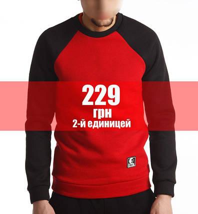 Свитшот Базовый  (Зимний) Черно-красный, фото 2