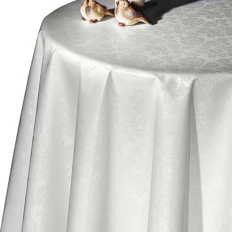 Белоснежная турецкая праздничная клеенка на стол Dekorama