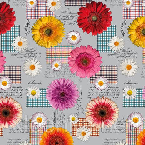 Клеенка на стол и стену с цветочками на ПВХ основе, фото 2