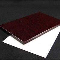 Накладки Микарта для рукоятки ножа № 92211 Цвет: бордовая текстура с тканевой текстурой 8,2х80х130 мм, фото 1