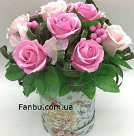 """Ароматный букет,розы из мыла """"Мыльная опера"""""""