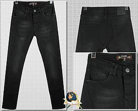 Джинсы мужские модные зауженные Mario коттон чёрного цвета