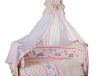 Яркий набор для детской кроватки с одеялом и подушкой Рекс 8 ед