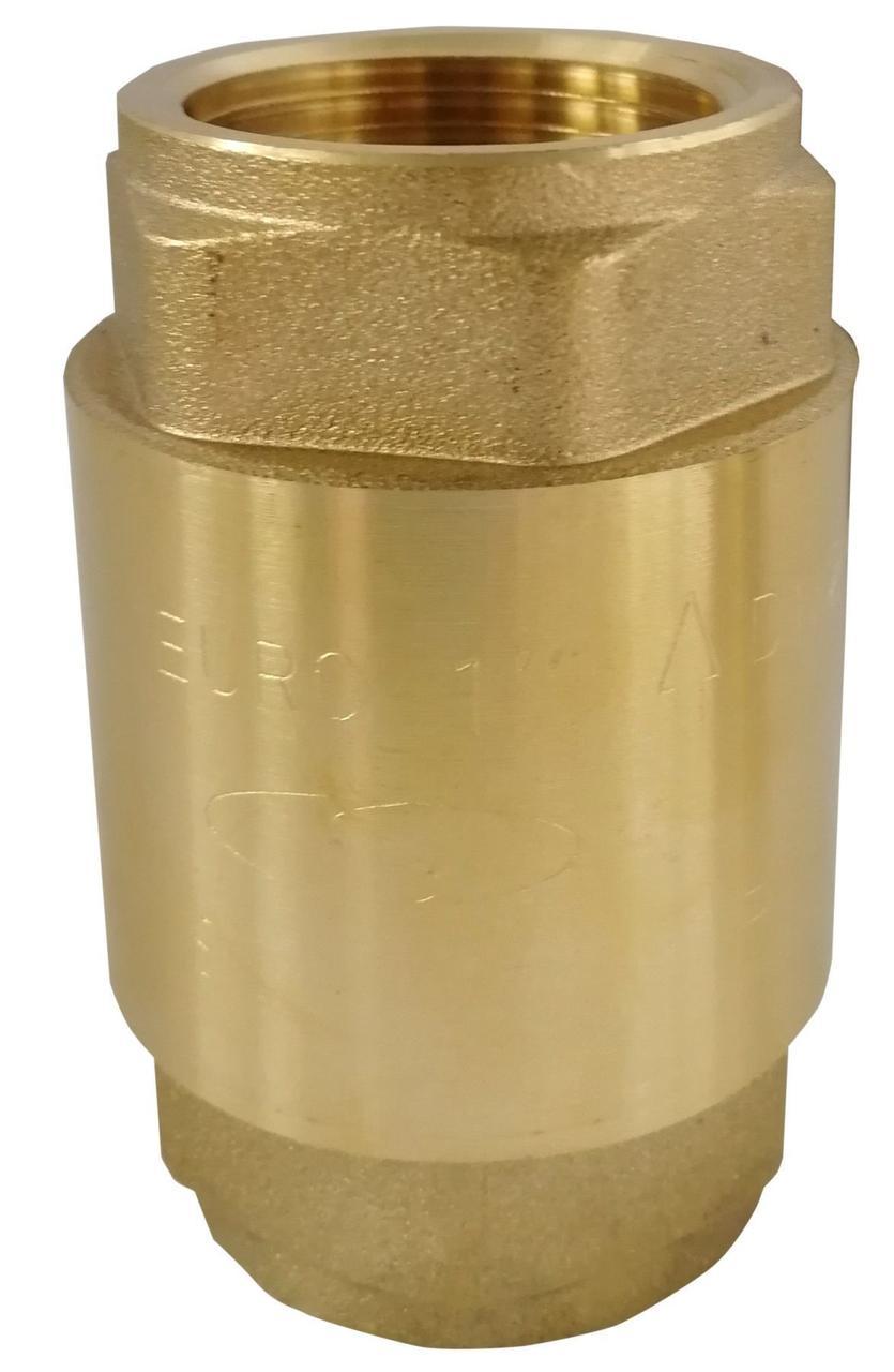 Клапан обратного хода воды Solomon EUROPA 6026 латунный шток 1'