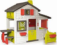 Детский игровой домик Smooby 810200 со столиком и скамейками  (игровой домик для улицы и дома)