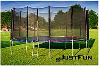 Батут Just Fun  Multicolor 490 см с внешней сеткой и лестницей (Спортивный батут), фото 1