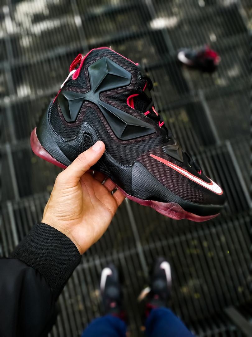 """Кроссовки Nike LeBron 13 Performance """"Черные\Красные"""""""