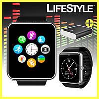 Умные часы Smart watch GT08 с SIM + Power Bank 10400 mAh Xiaomi Mi в Подарок