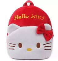 Детский рюкзак Хеллоу Китти красный с бантиком, фото 1