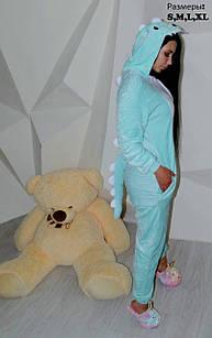 Кигуруми пижама Дракон мятный M на рост 160 +-5 см