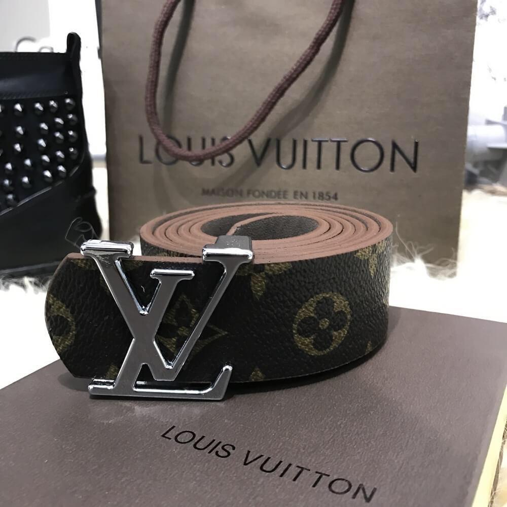Ремень женский кожзам  в стиле  Louis Vuitton ( Луи Витон)