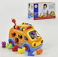 Музыкальная игрушка Логическая машинка Веселый автобус  988