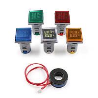 Амперметр+вольтметр с подсветкой 100А зеленый