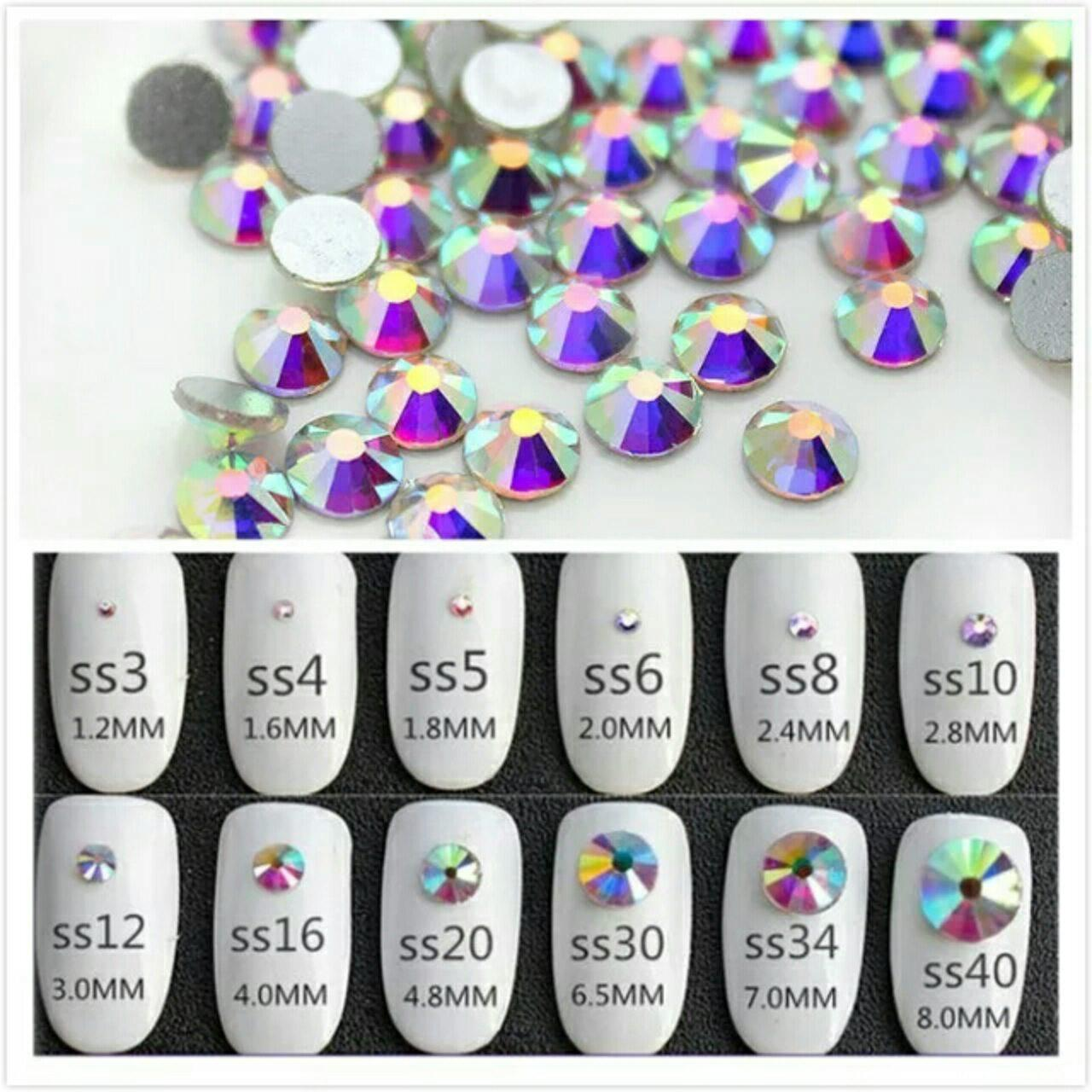 Стразы Crystal AB хамелеон SS3 1,3 - 1,4 мм (1440шт)