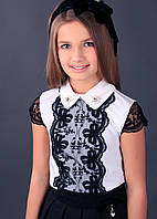 Школьная блузка для девочки Школьная форма для девочек MONE Украина 1629-1