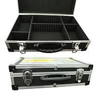 Кейс для инструмента Housetools 425 x 285 x 120 мм алюминиевый с перегородками 79K221-S