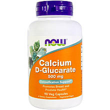 """Глюкарат кальция NOW Foods """"Calcium D-Glucarate"""" 500 мг (90 капсул)"""