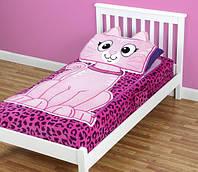 Детский плед-покрывало на кровать на молнии 3-в-1 Zippy Sack (Китти)