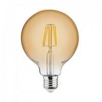 Винтажная лампа  Шар  Filament globe G-125 6W Horoz