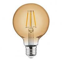 Винтажная лампа  Шар  Filament globe G-95 4W Horoz
