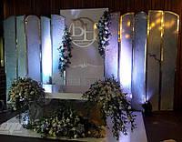 Свадебная ширма принт, глянцевая ширма, ширма на свадьбу, фотозона