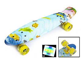 """Penny Board """"Рыбки"""" со светящимися колесами"""